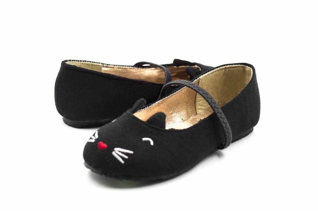 Amazon.com: Simply Petals Girl's Meow Face Slip On Flat (Toddler/Little Kid/Big Kid): Shoes