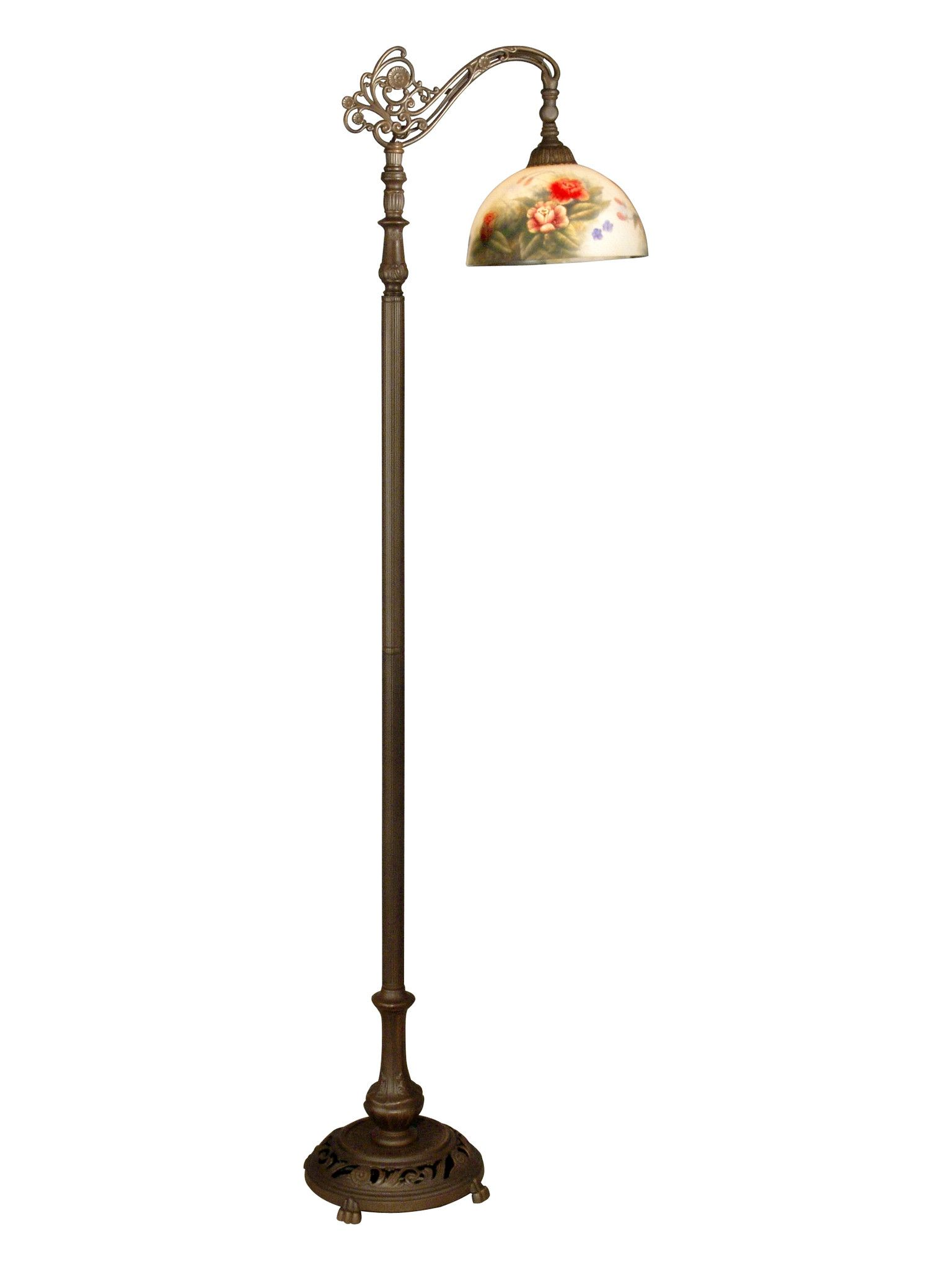 Dale Tiffany 10057 757 Rose Dome Downbridge Floor Lamp