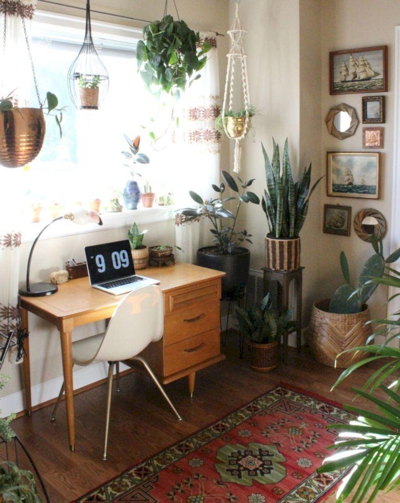 50 Modern Boho Design Decorating Ideas For Office
