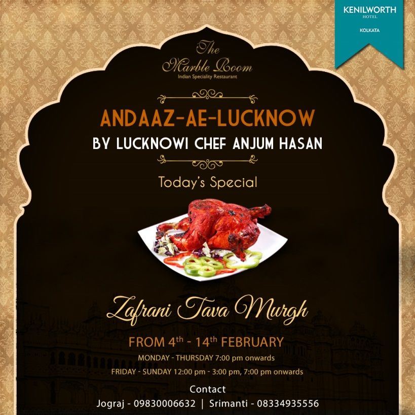 Kenilworth presents the lucknowi food festival where the for Awadhi cuisine history