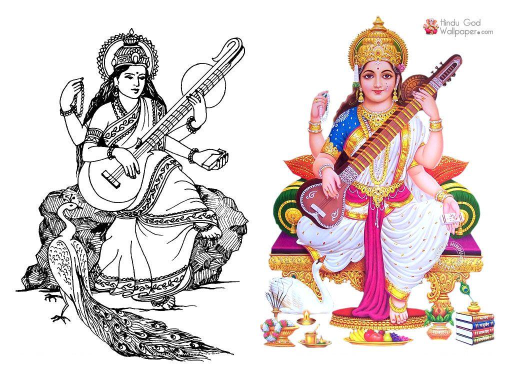 Maa Saraswati Saraswati Picture Photo Wallpaper Wallpaper