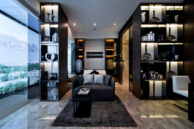Nice High Gloss, High Contrast, High Drama Interiors