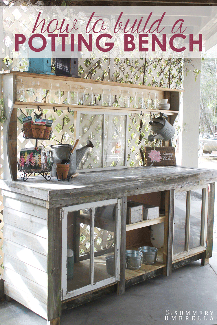 How To Build A Potting Bench With Reclaimed Wood Diy