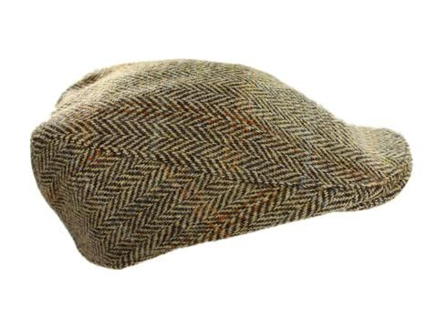 02451984 Perfectly hand crafted, this Harris Tweed touring cap is one of the many  caps from the Hanna Hats Ireland. The Irish made Harris Tweed features  hints of ...