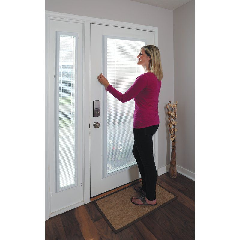 Add On Enclosed Door White Venetian Blind Store Fenetre Rideaux