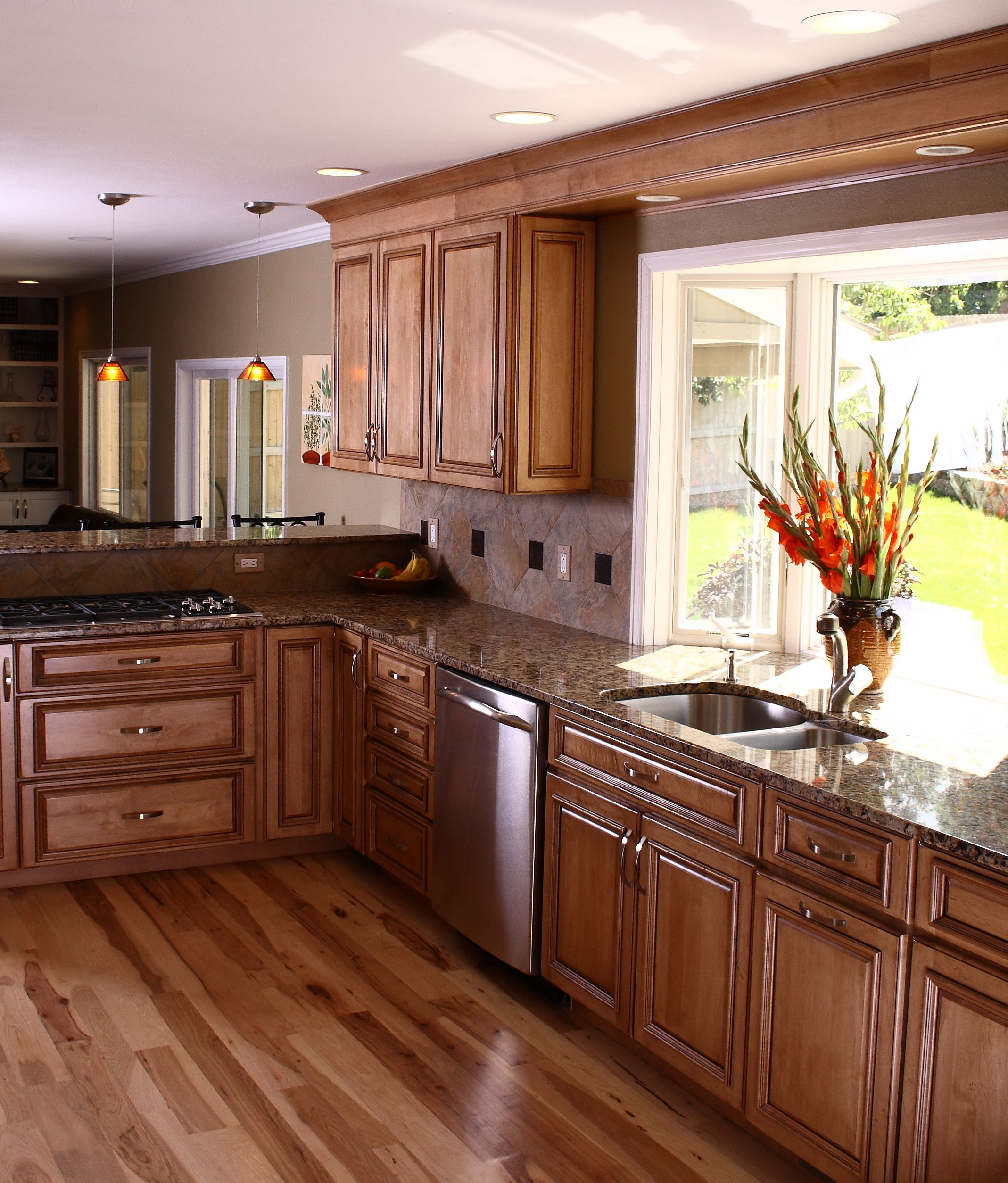Kitchen Poplar Kitchen Remodel Beautiful Houses Interior Staining Cabinets