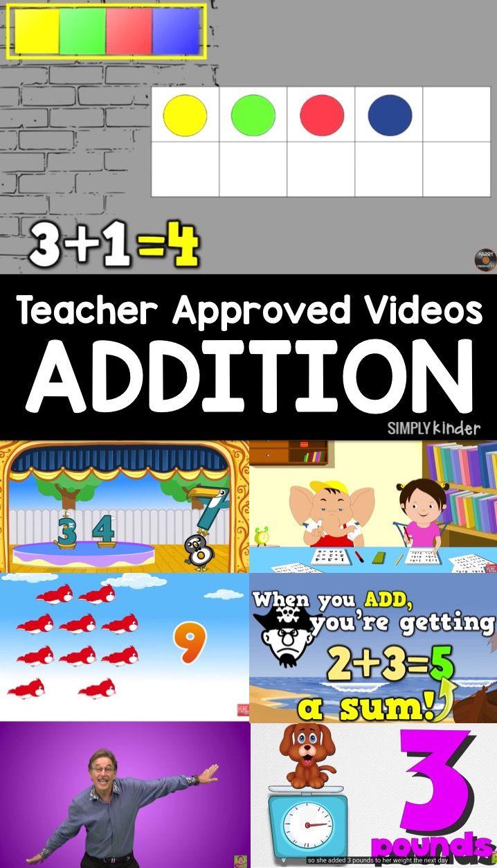 Addition Videos Kindergarten math, Teaching kindergarten