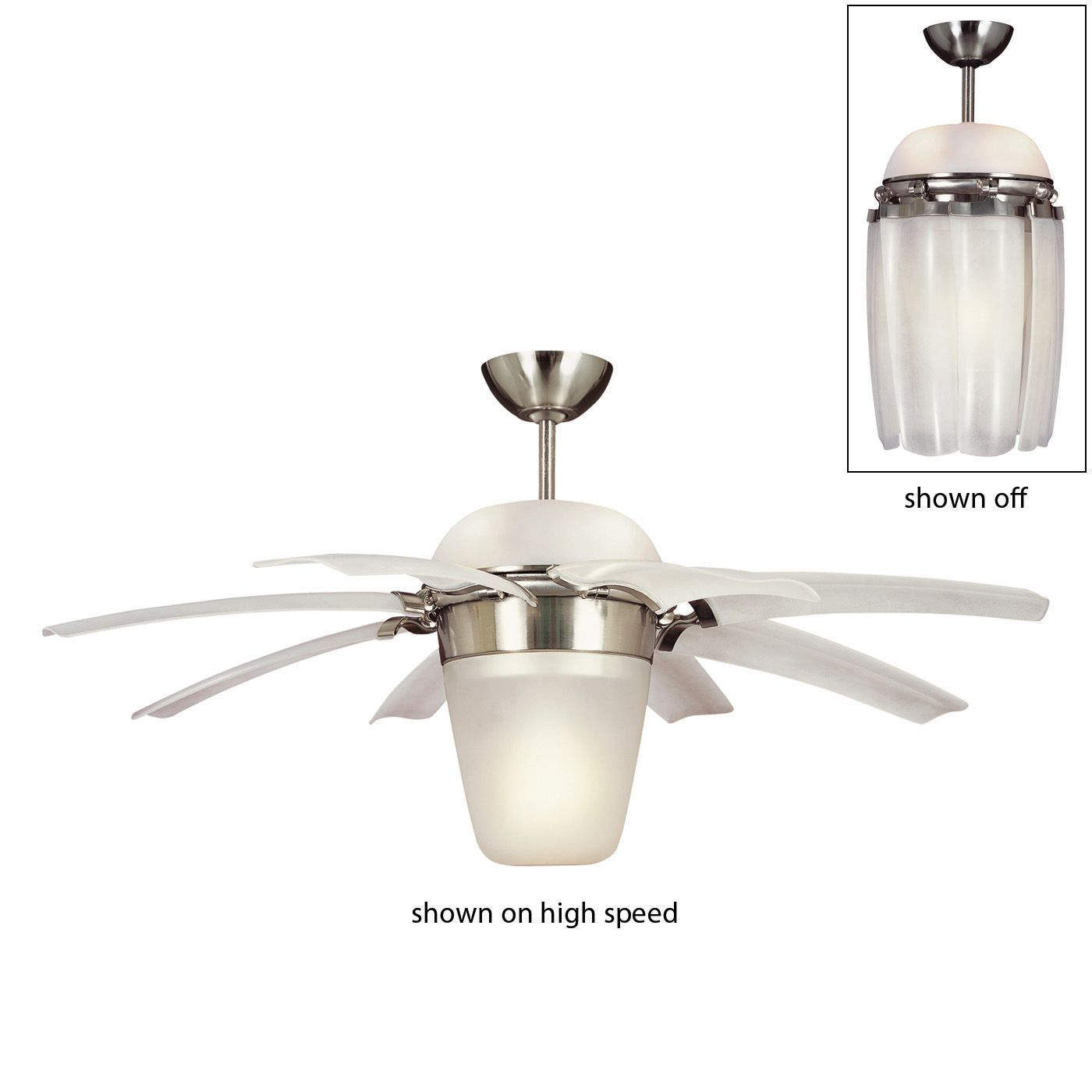 Monte Carlo Fan 8ATR44BSD L 5 Light 44in Airlift Ceiling Fan