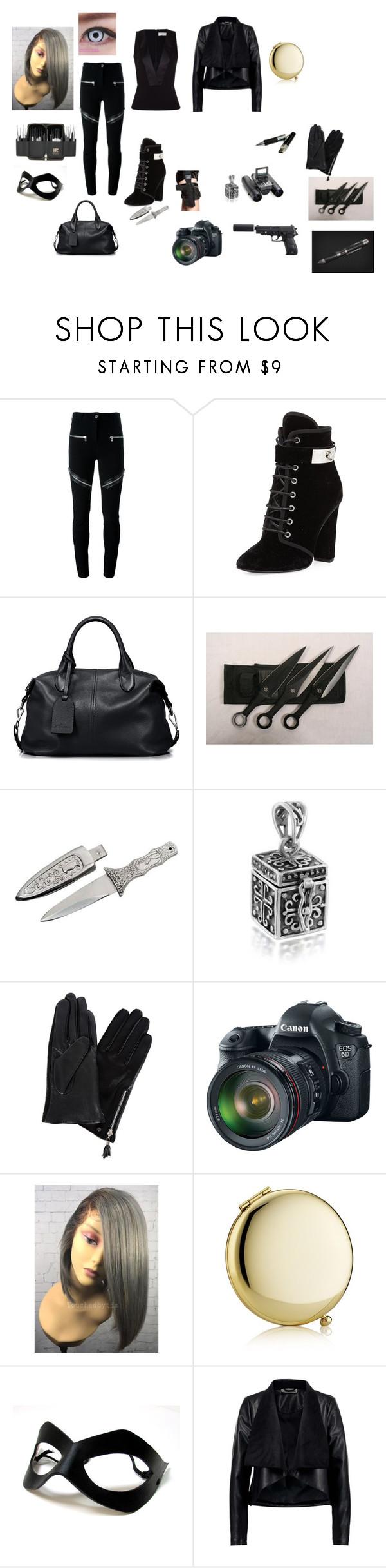 """Untitled #56"" by randomfashionsxoxo ❤ liked on Polyvore featuring Givenchy, Giuseppe Zanotti, Bushnell, Spy Optic, Bling Jewelry, Dents, Eos, Estée Lauder and Balenciaga"
