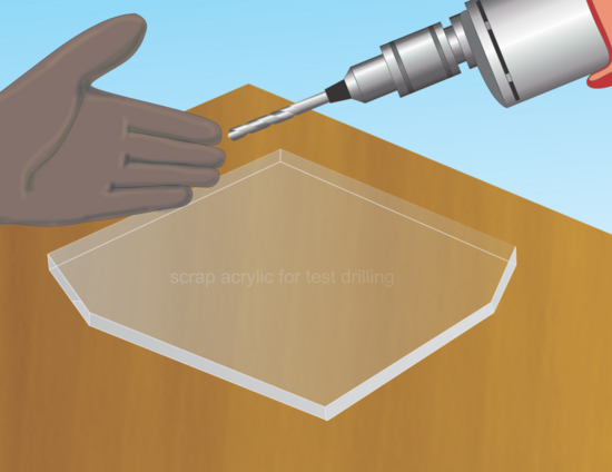 How To Drill Plexiglass Plexiglass Plexiglass Frames Acrylic Sheets