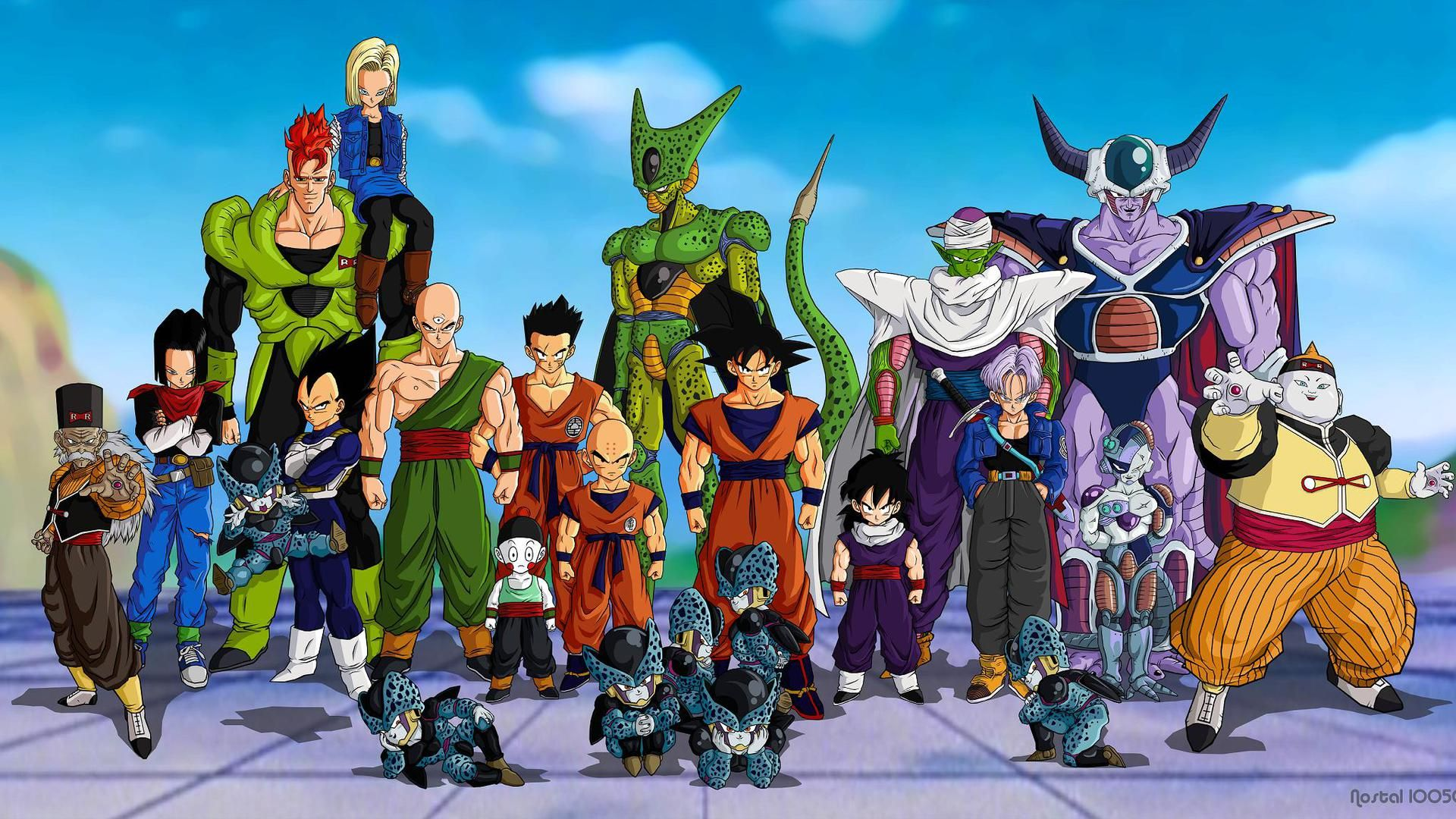 Dragon Ball Z All Characters Image Pictures Anime Hd Wallpapers Widescreen For Desktop Pc Dragon Ball Anime Dragon Ball Z Wallpaper