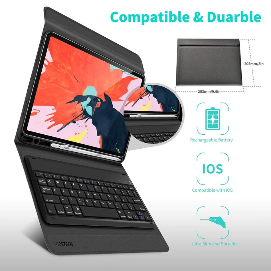 Bluetooth Keyboard Case For Ipad Pro 11 2018 Magnetic Flip Stand Ipad Case For Ipad Air Complete With Wireless K Bluetooth Keyboard Case Ipad Pro Keyboard Case