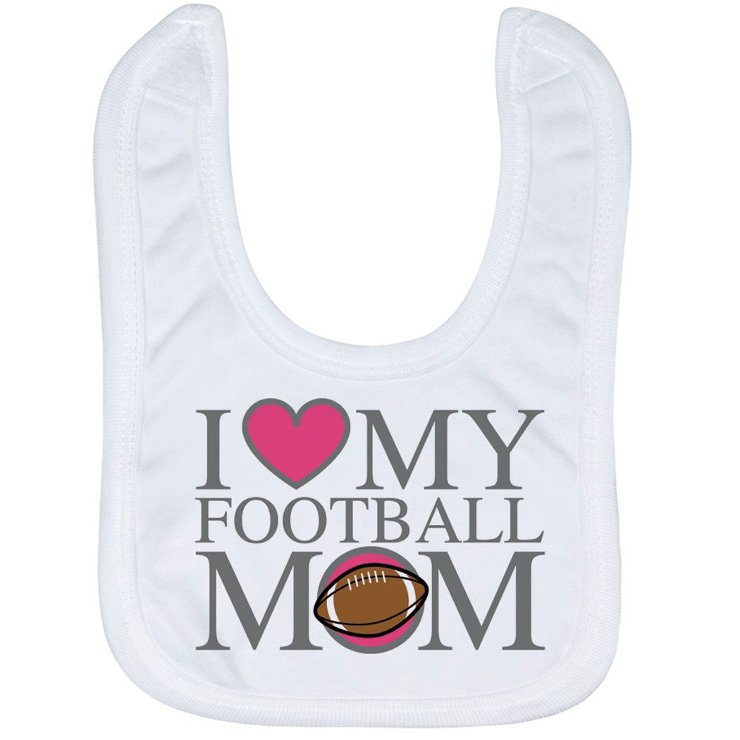 I LOVE MY MUMMY Baby Bib Sporty Design