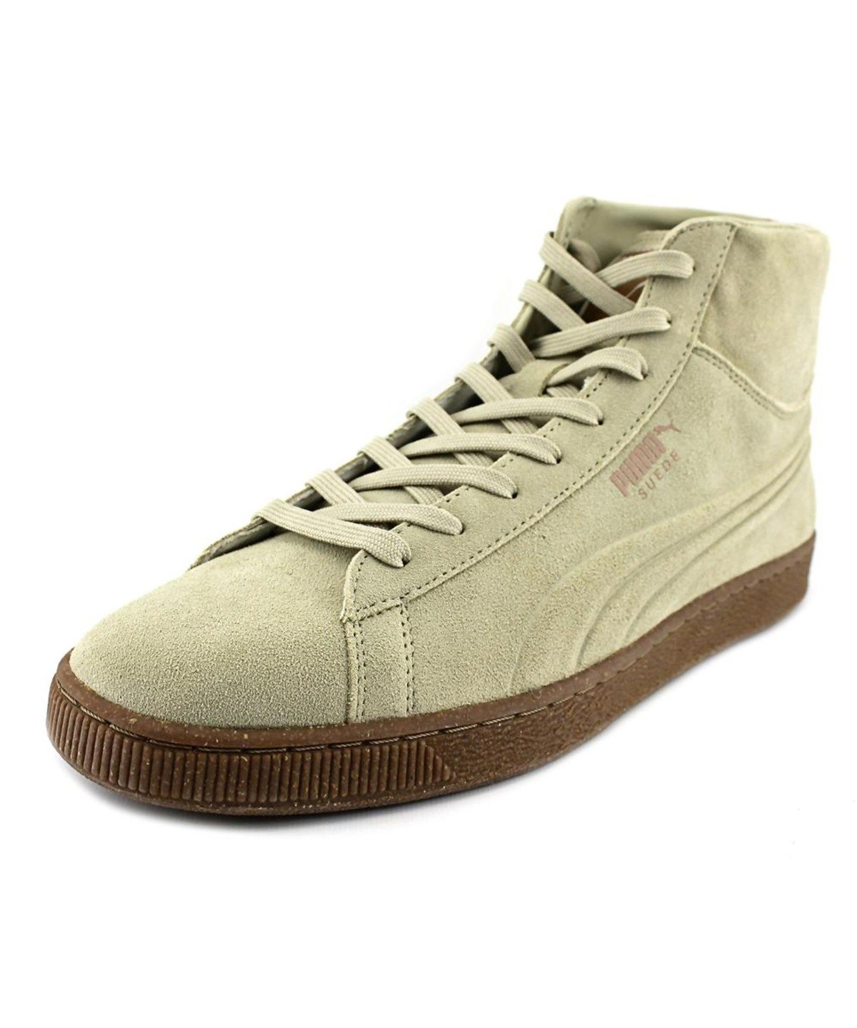 4091e44cc859 PUMA Puma Suede Mid Emboss Men Round Toe Suede Tan Sneakers .  puma  shoes   sneakers
