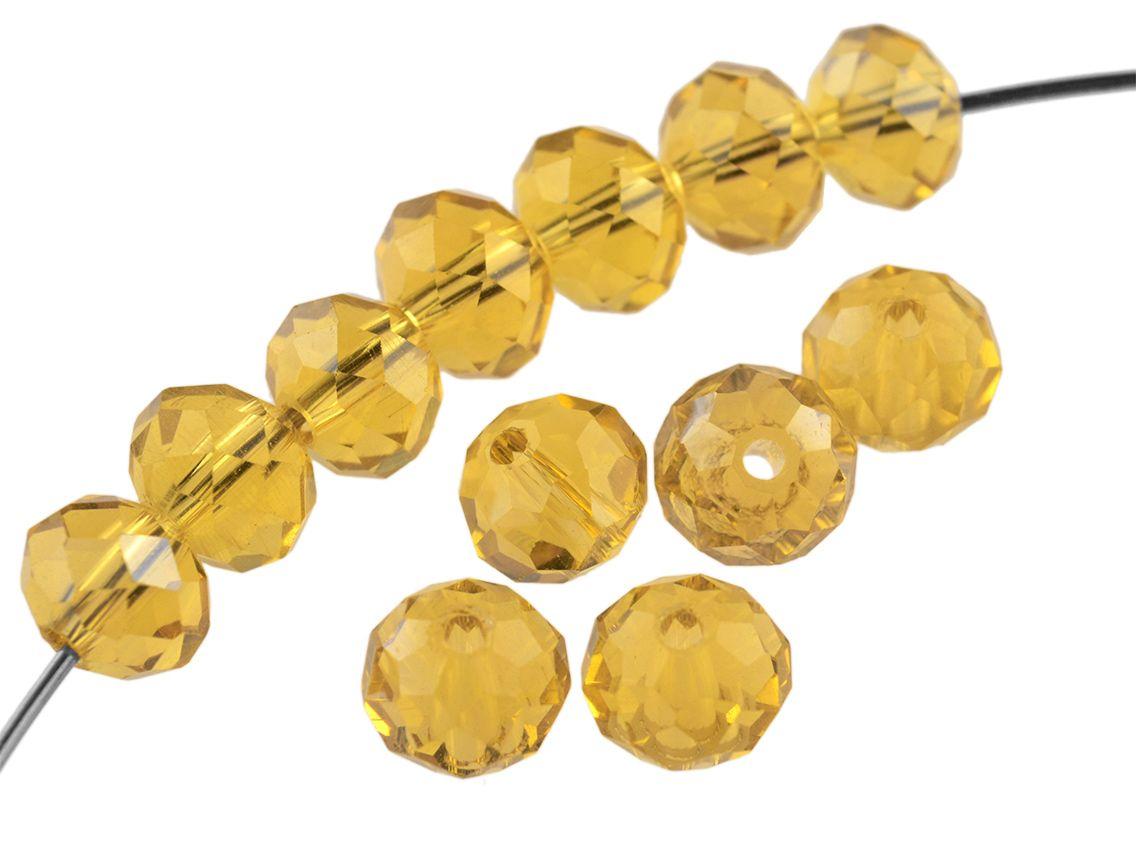 Glasperlen in apricot glasiert 8 mm 40 Stück von Vintageparts DIY-Schmuck