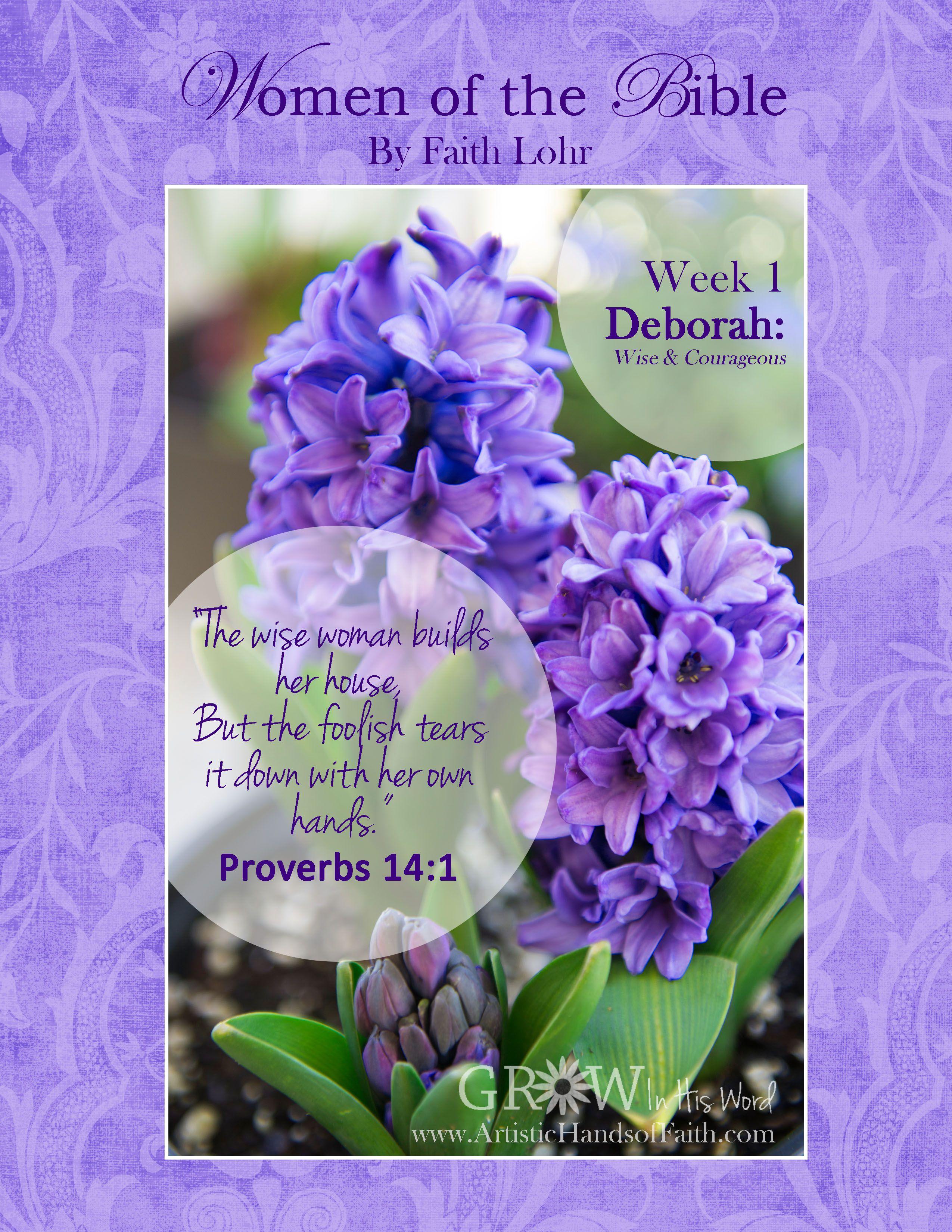 FREE studyguide Women of the Bible study Week 1 Deborah