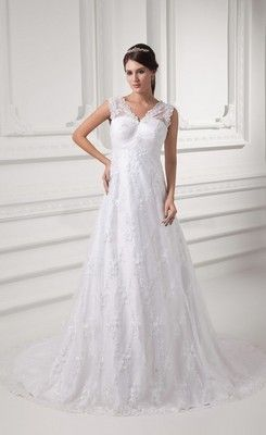 Nice A Line V Neck Lace Wedding Dress Maternity Pregnant Summer Beach WeddingsBeach