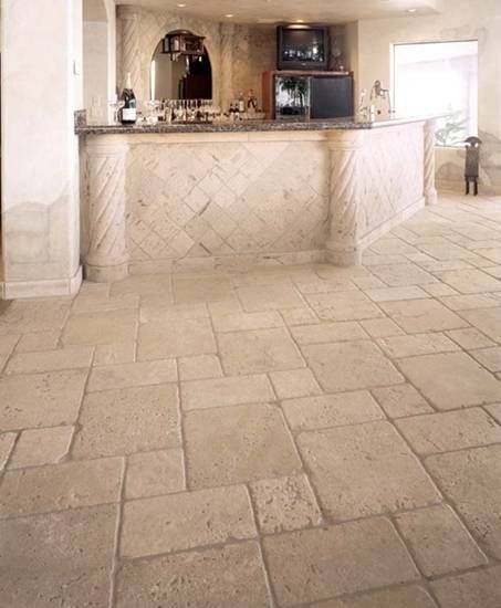 Delightful Stone Tiles · Travertine Kitchen Floor ...
