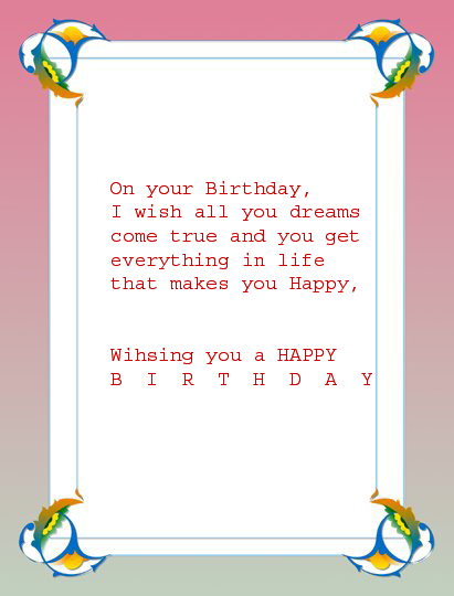 All wishes message wishes card Greeting card Birthday Message – Birthday Message Card