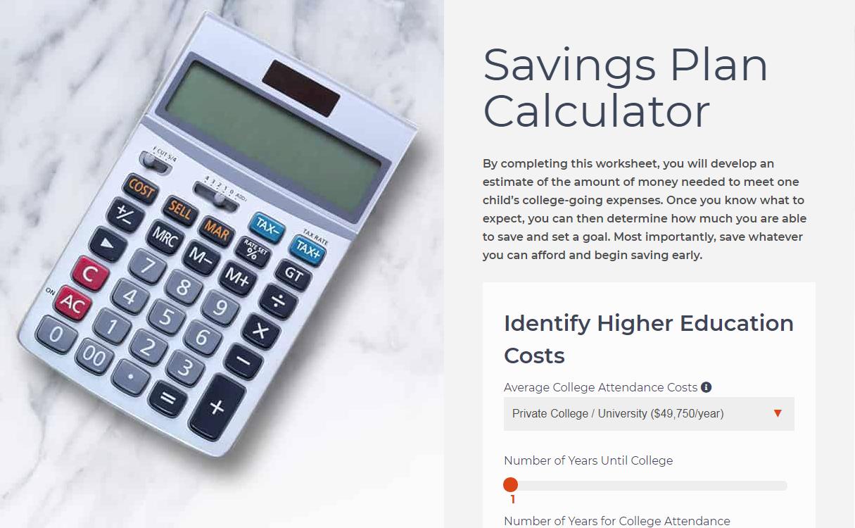 Savings Calculator Savings Calculator Savings Plan College Savings Plans