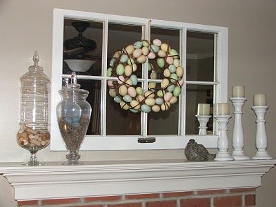 Wreath like this for front door? (less eggs, though)