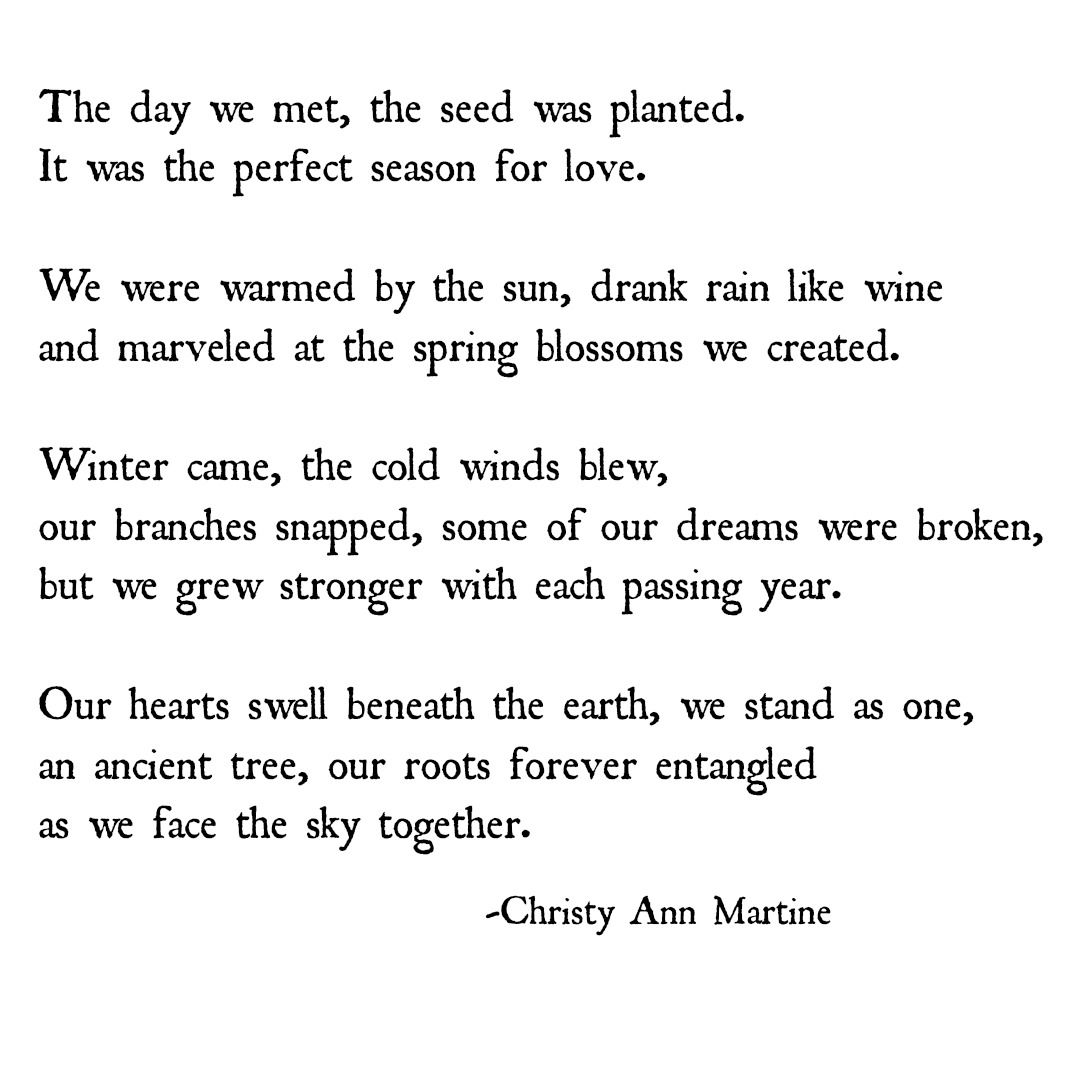Growing Together In Love Poem By Christy Ann Martine Nature And Love Poetry Together Quotes Love Quotes For Him Deep Love Quotes For Him