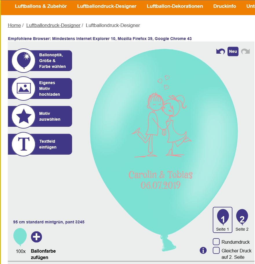 Ballondesigner Luftballons Designer Uberraschung Hochzeit