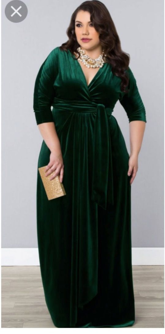 ede2132c6ff Green velvet bridesmaid dress