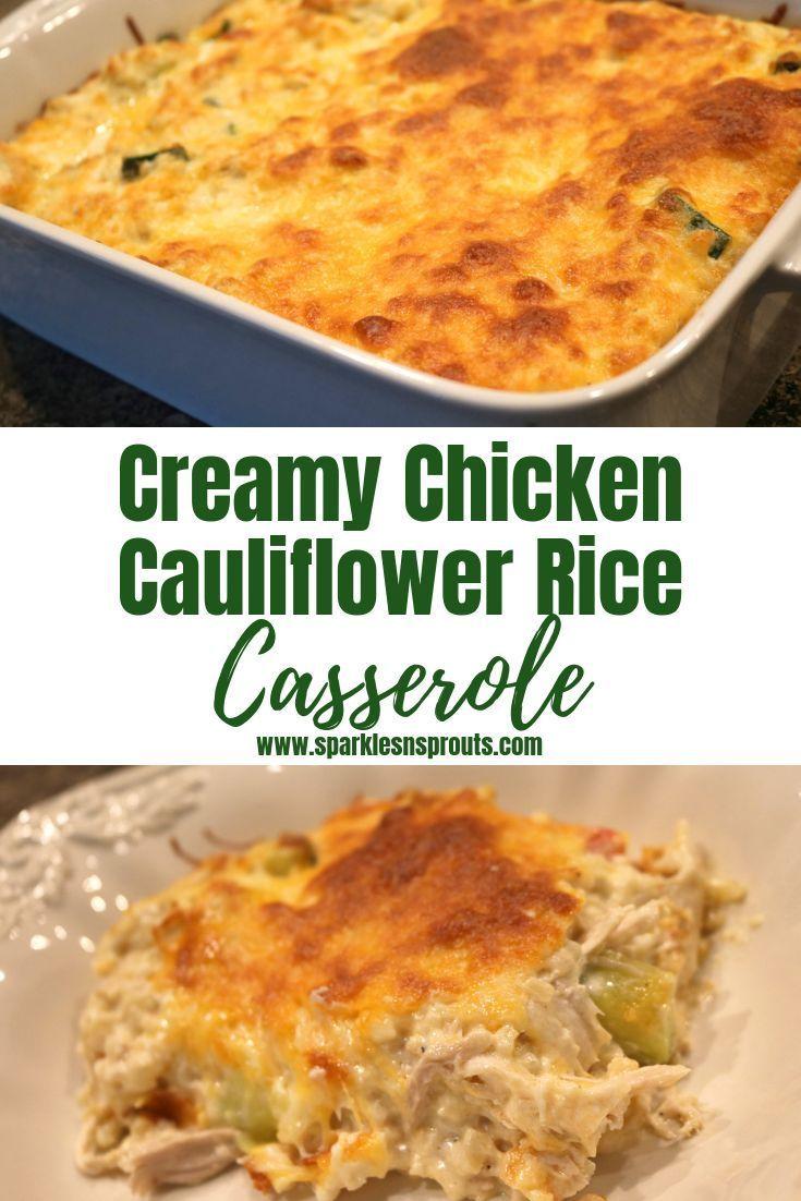 Creamy Chicken and Cauliflower Rice Casserole