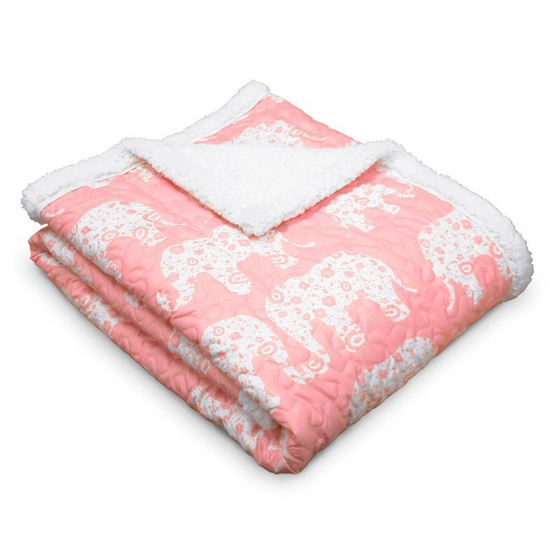 Elephant Parade Throw, Pink