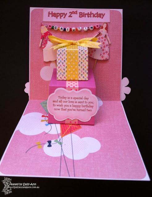 My Crafty Corner A 2nd Birthday Card For Caitlin I Made This Pop Up Two Year Old Little Granddaughter Of Friend