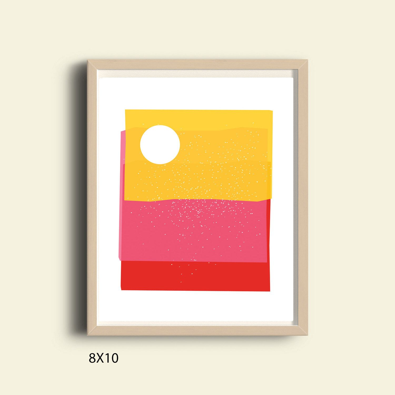 Abstract art print, bright colors, PRINTABLE art, contemporary art ...