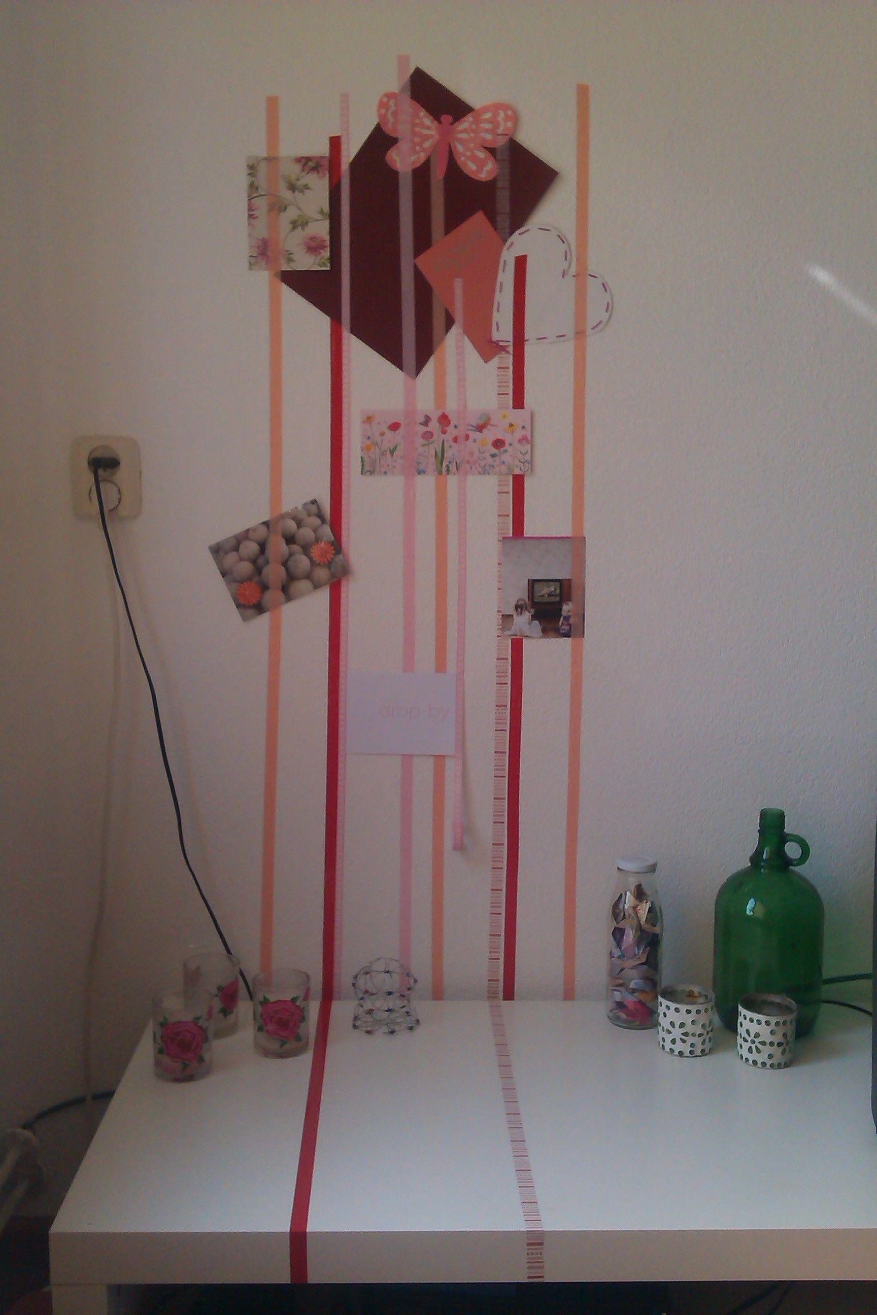 Homemade masking tape muur (en tafeltje..)