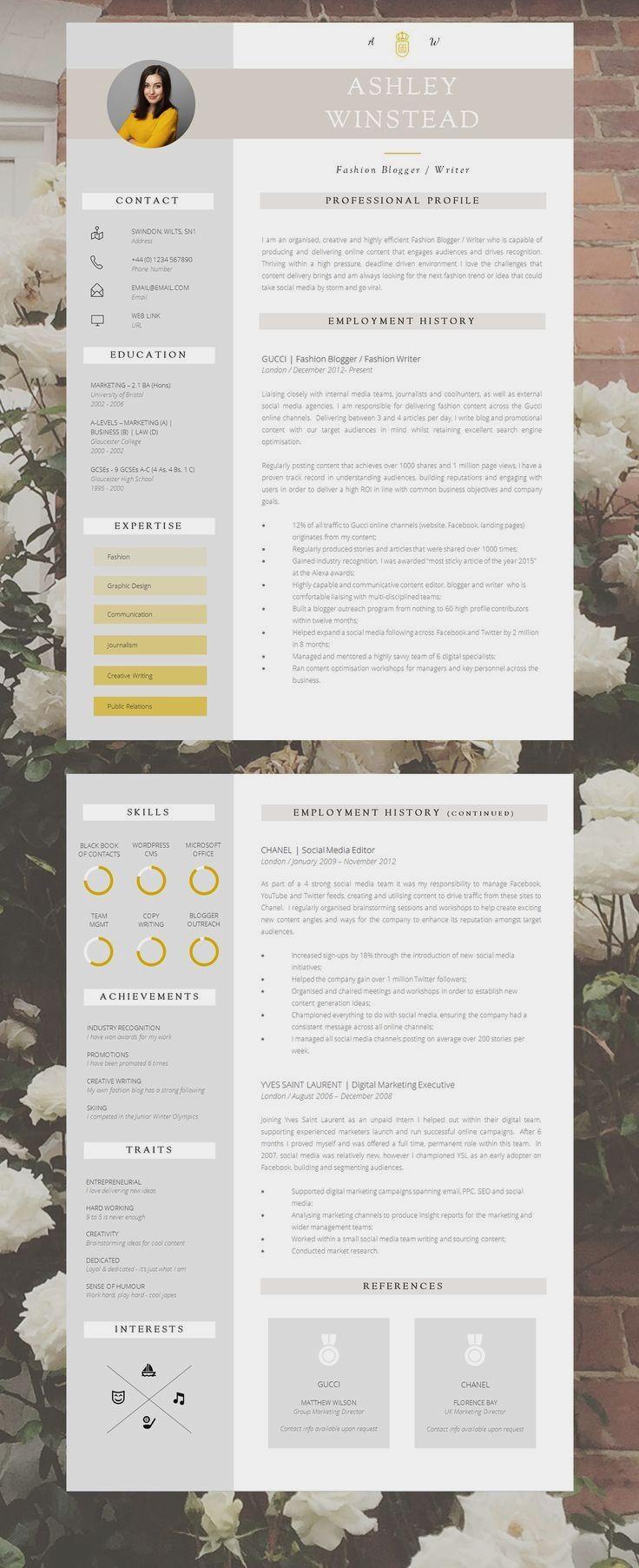 Modern Resume Design Creative Resume Template Resume