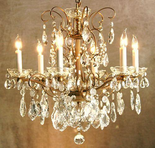 Vintage schonbek crystal chandelier antiqued brass frame swarvorski vintage schonbek crystal chandelier antiqued brass frame swarvorski crystals ebay aloadofball Images
