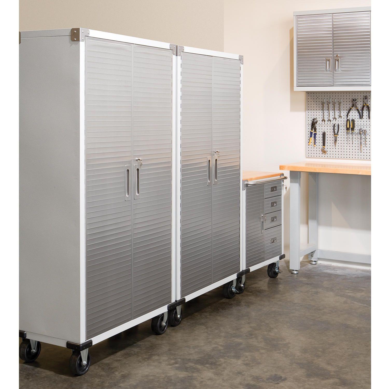 Seville Classics Ultrahd 2 Door Rolling Cabinet Sam S Club In 2020 Metal Storage Cabinets Metal Garage Storage Cabinets Garage Storage Cabinets