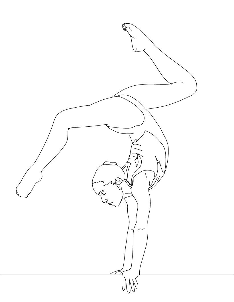 Free Printable Gymnastics Coloring Pages For Kids Sports Coloring Pages Dance Coloring Pages Coloring Pages