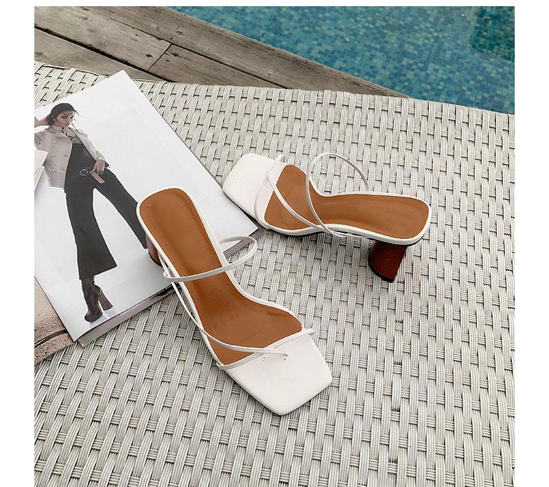 Square Toe High Heels Flip Flop