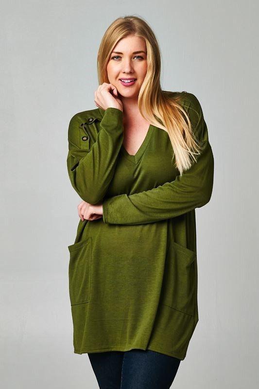 Olive Plus Size Knit