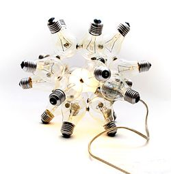 Light Bulb Sculpture Construction Kit.