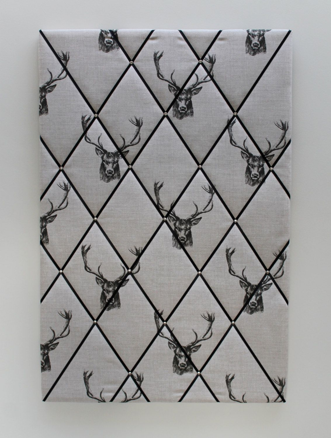 Large Pin Board 90cm X 60cm In Stag Head Fabric Large Fabric