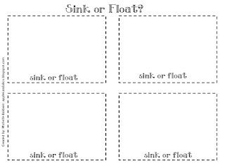 here 39 s a great post detailing a sink or float lesson recording sheet included sinking. Black Bedroom Furniture Sets. Home Design Ideas