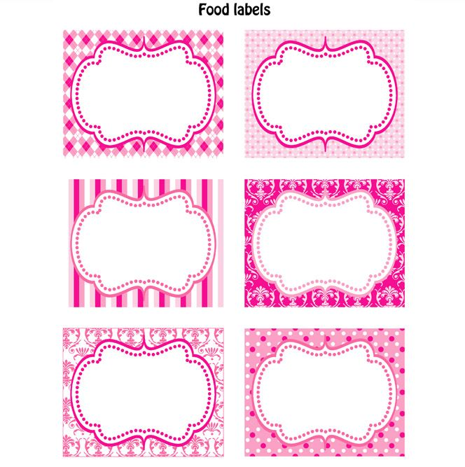 Cute labels labels party pinterest food labels for Baby shower decoration templates