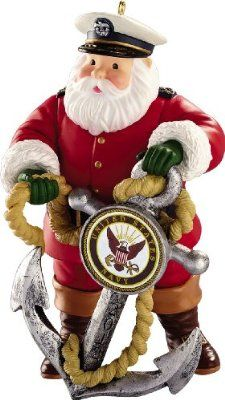 8388838d1b655 Navy Christmas Ornaments. I actually adore this rendition of Santa! He  looks much better with the nautical touch  P