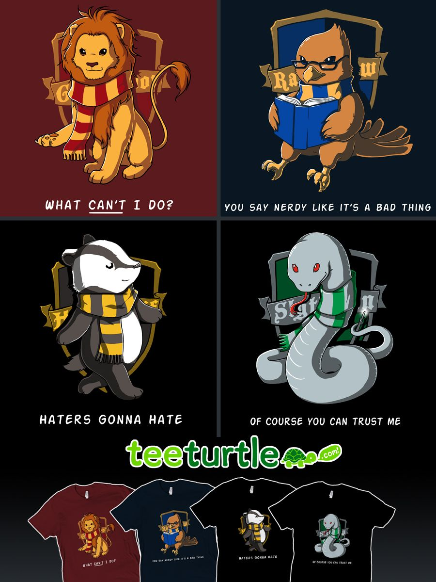 hp house emblems by *ramy hogwarts t-shirts i want the slytherin