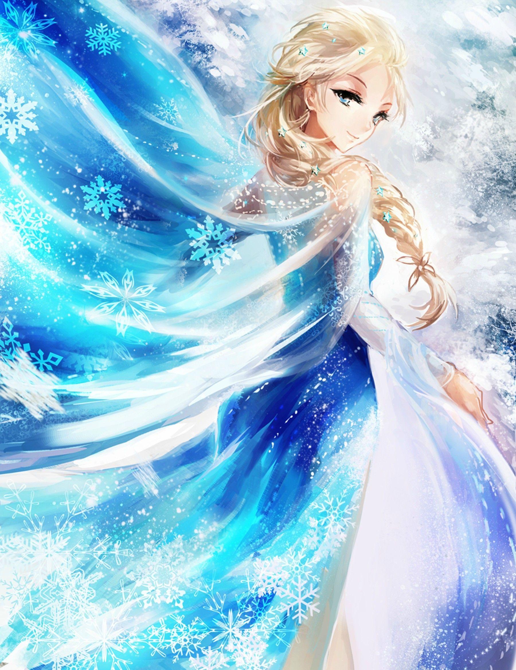 Frozens Elsa エルサ イラスト雪の女王ディズニー