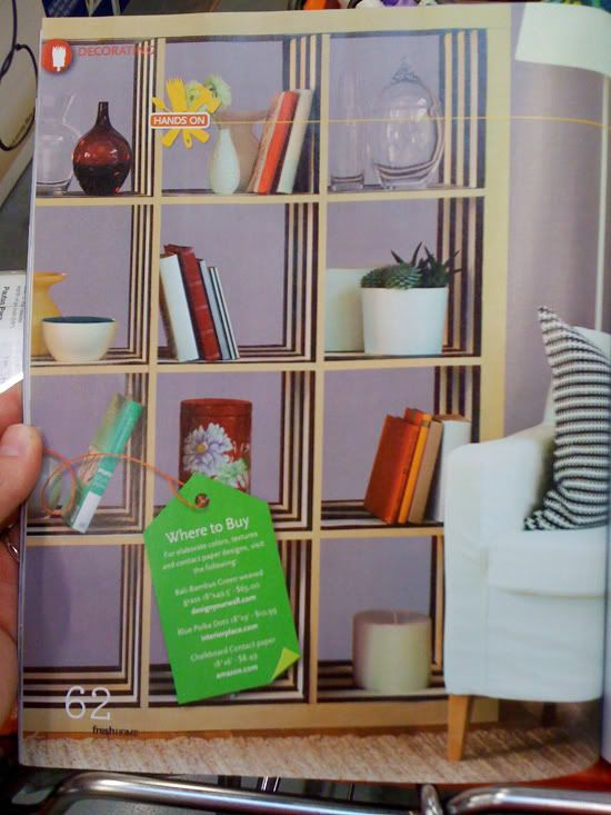 Expedit With Striped Contact Paper Inside