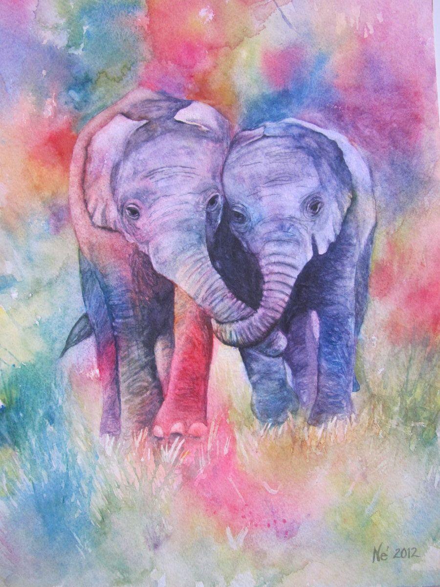 Hold On By Mydawnrenee On Deviantart Elephant Canvas Elephant Drawing Elephant