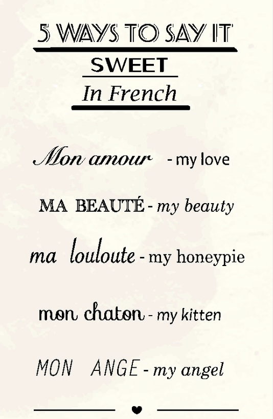 So Sweet! 5 Ways to Say It Sweet in French #Sweet #French