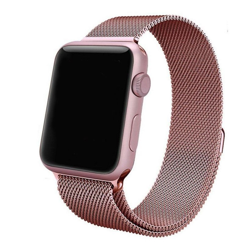 Apple Watch Rose Gold Milanese Loop Band Strap Rose Gold Apple